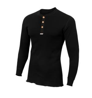 WarmWool Granddad shirt M Jet Black L
